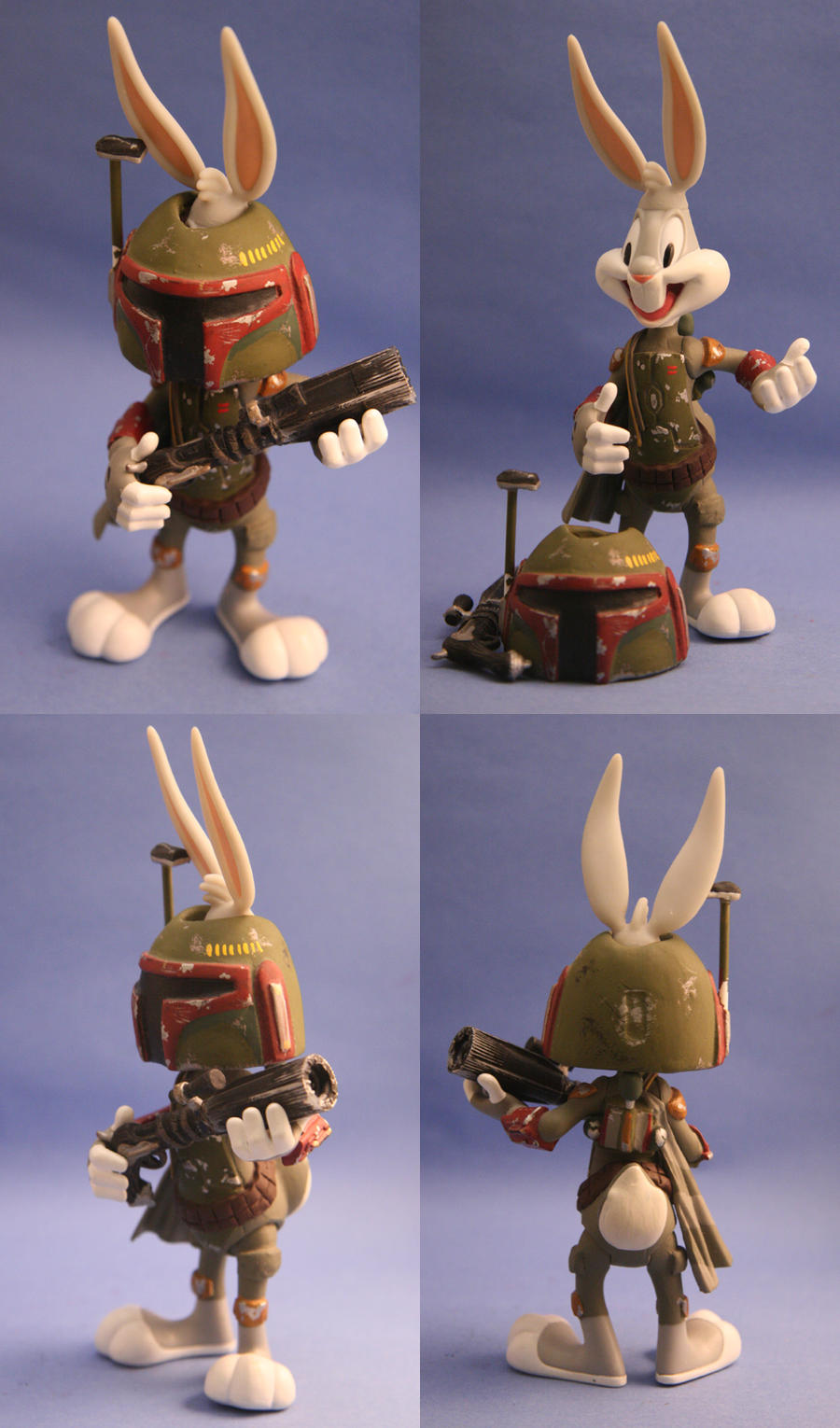 custom star wars bugs bunny as boba fett action figure ebay. Black Bedroom Furniture Sets. Home Design Ideas