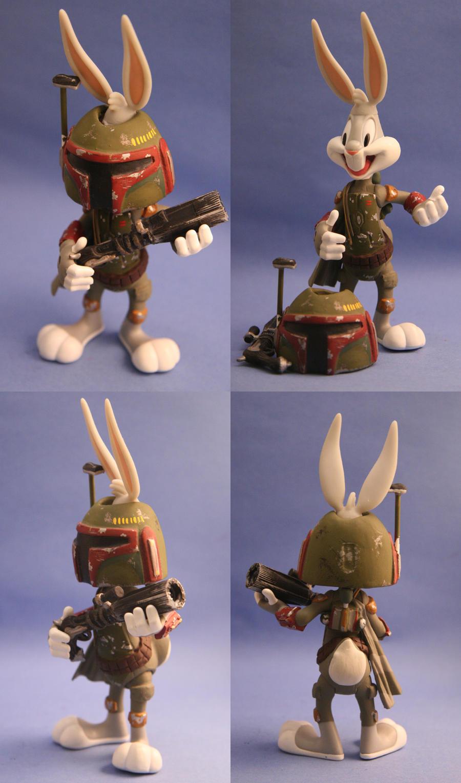 custom star wars bugs bunny as boba fett action figure ebay. Black Bedroom Furniture Sets. Home Design Ideas