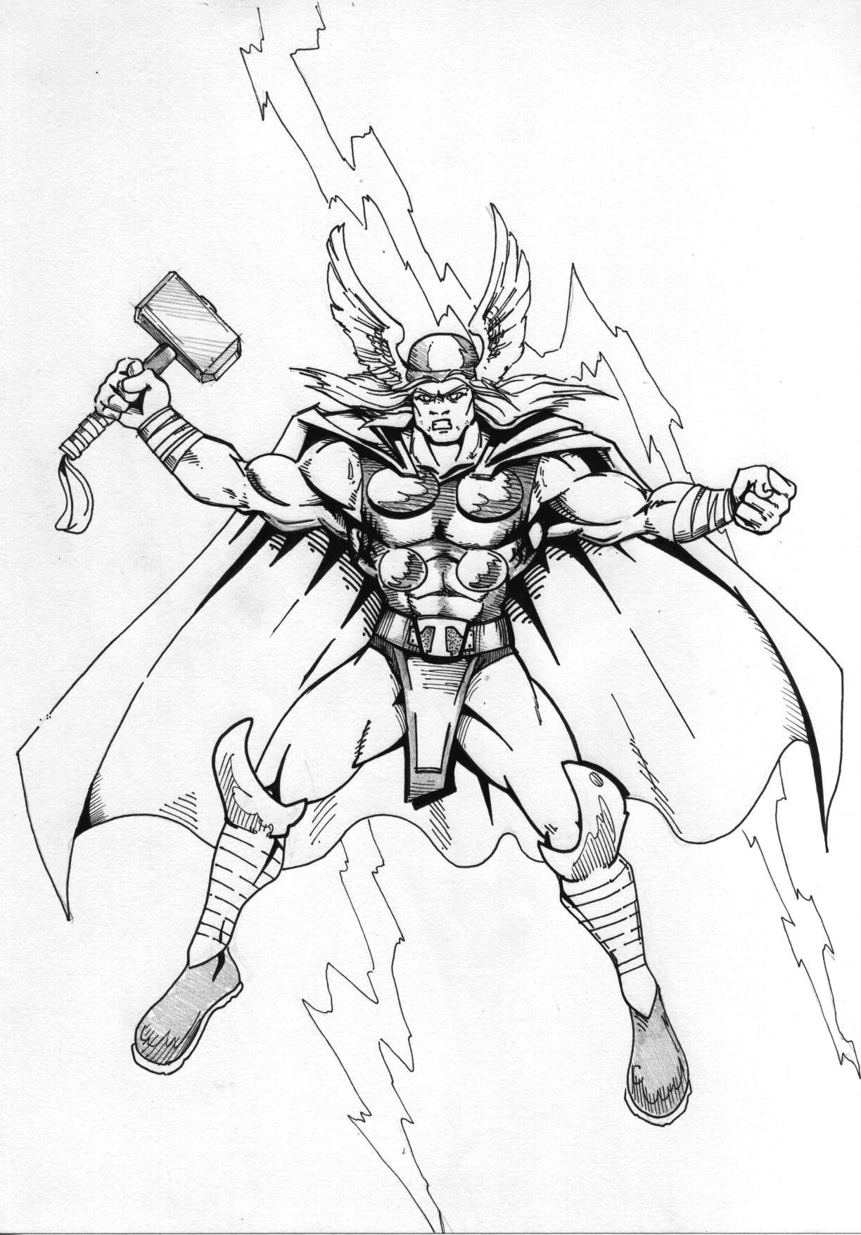 Thor lineart by Mace2006 on DeviantArt