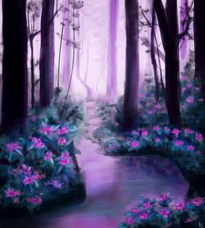 Magic Purple Forest