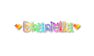 Dhaniella Rainbow PNG Text by MsPinkySparkles