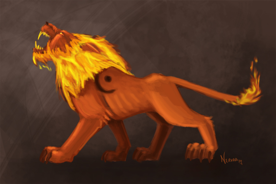 Druid Firecat by Nervaa on DeviantArt