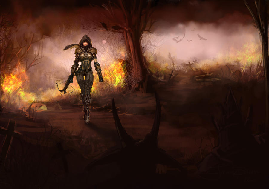 Diablo 3 Demon Hunter wallpaper scribble by Nervaa on ...