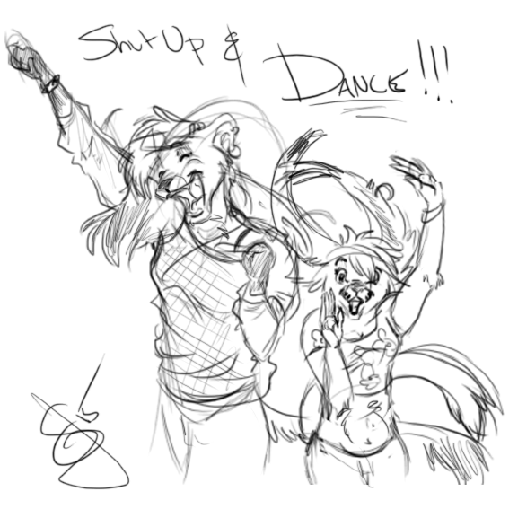 Shut Up and Dance Scribble by tajiba