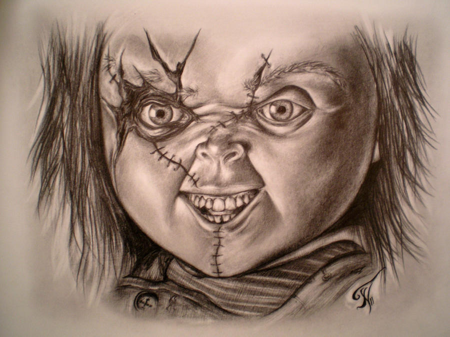 chucky doll tattoo drawing pictures to pin on pinterest tattooskid. Black Bedroom Furniture Sets. Home Design Ideas