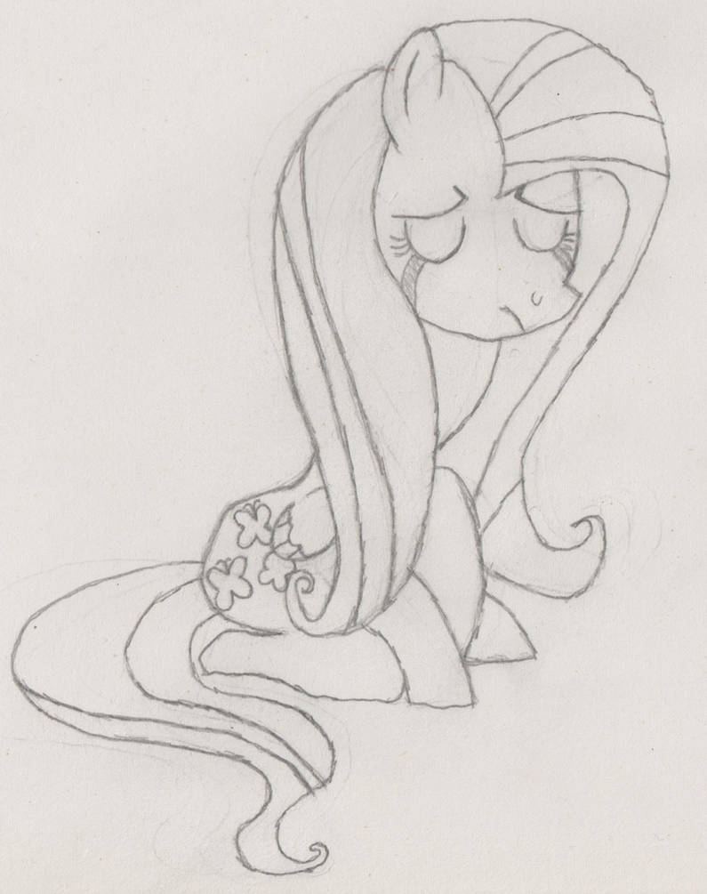 Flutter sad by HeadlongEquestria