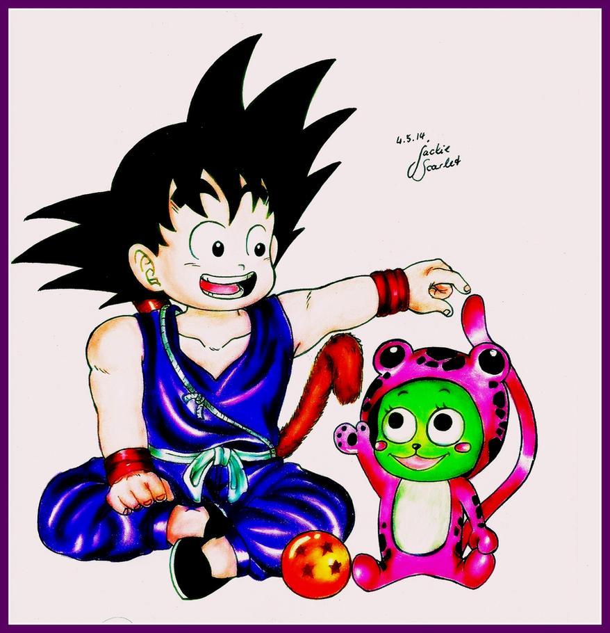 Goku and Frosch by JackieScarlet on DeviantArt