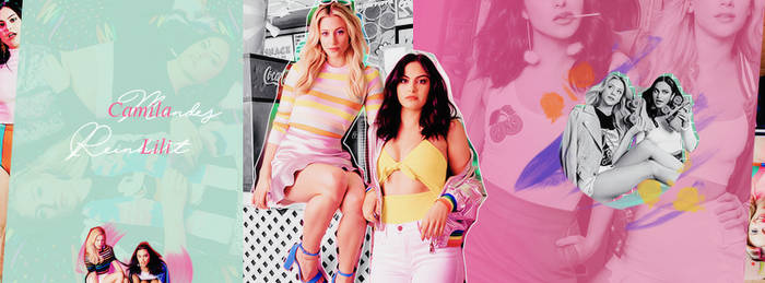 Camila Mendes and Lili Reinhart | FREE Fb Cover by GraphicsUniverse