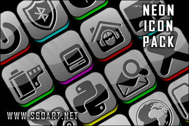 NEON ICON PACK PREVIEW by qiqi13963911803