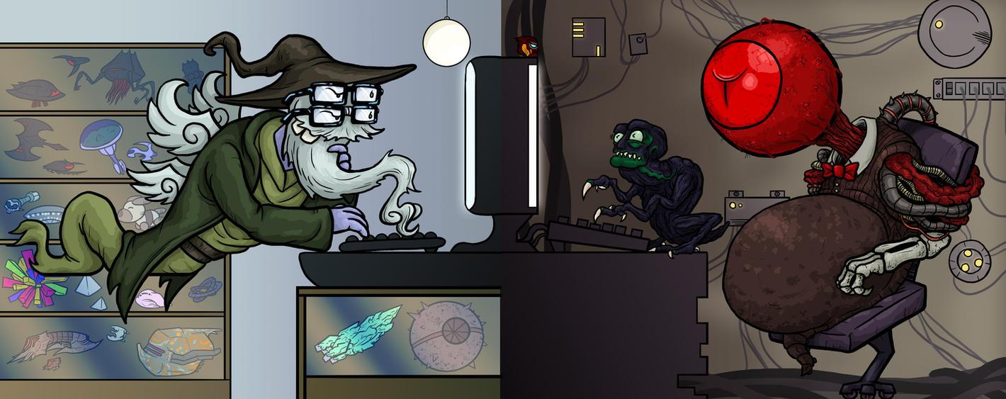 ANI: Ellimist, Crayak, + Drode by Monster-Man-08