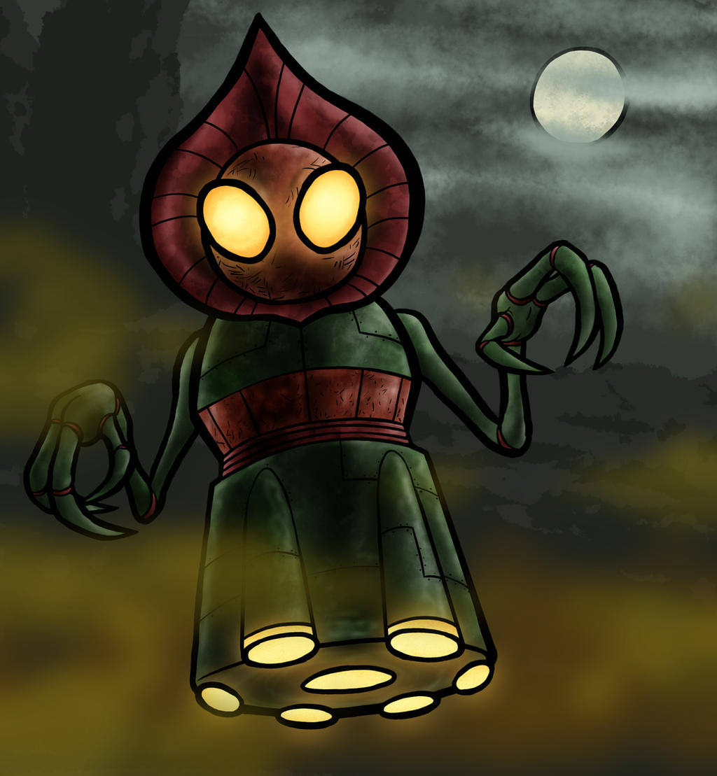 drawing of the Flatwoods monster