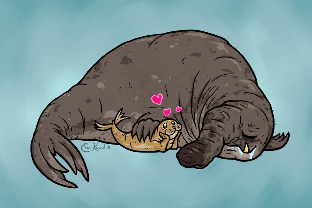 Elephant seal cartoon