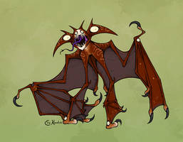 April Ghouls! Bat-Winged by Monster-Man-08