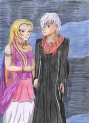 Cresselia and Darkrai by Angel-of-Thenis