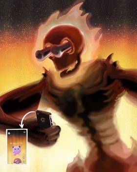 Sithrak playing Pokemon Go