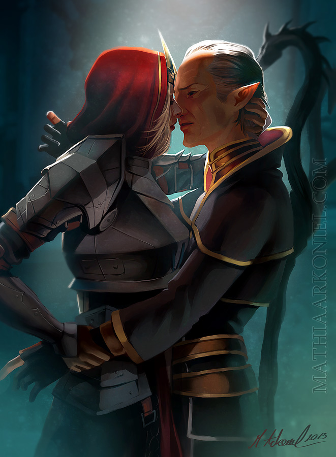 dragon age: Meredith and Orsino by MathiaArkoniel
