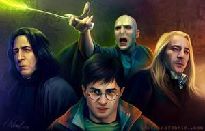 hp: Harry, Snape, Lucius, Voldemort