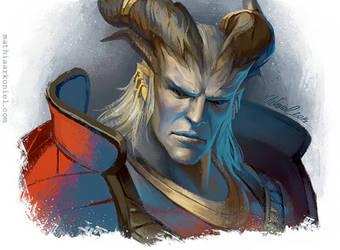 dragon age: The Arishok by MathiaArkoniel