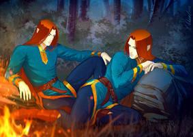 silmarillion: Amrod and Amras by MathiaArkoniel