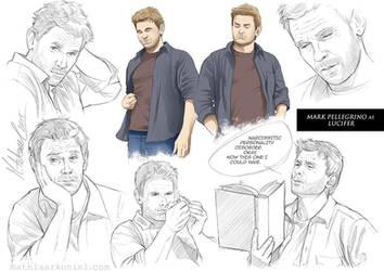 supernatural: Lucifer Sketches
