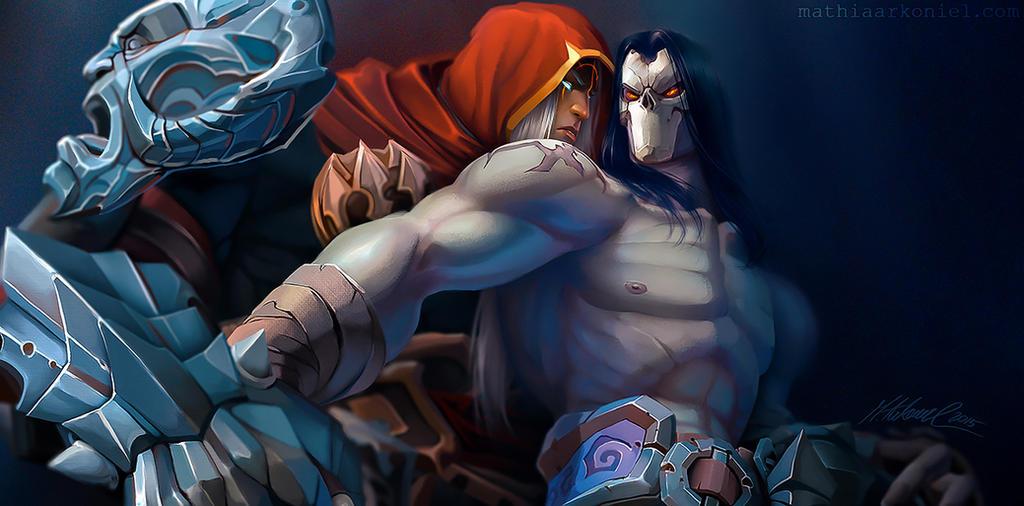 Darksiders War Wallpaper By: Darksiders: War And Death By MathiaArkoniel On DeviantArt