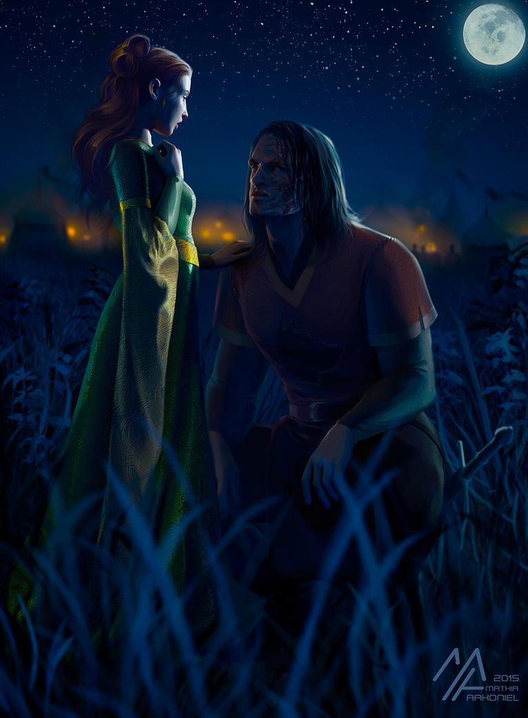 asoiaf: Sansa and Sandor by MathiaArkoniel