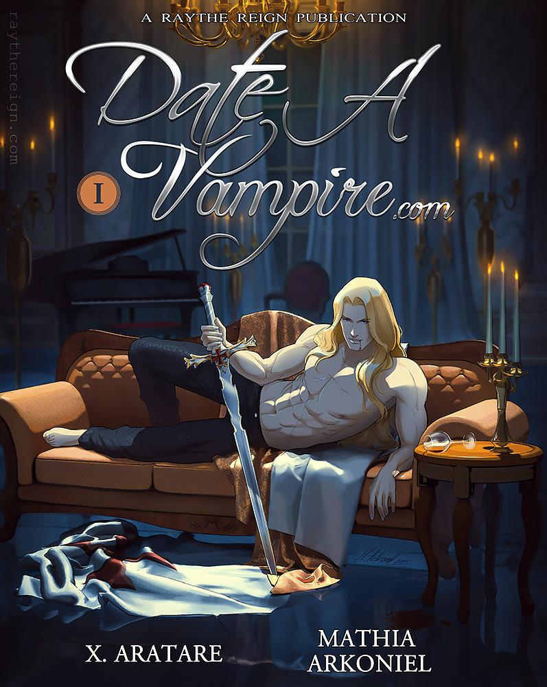 commission: Date a Vampire .com - Manga cover vol1 by MathiaArkoniel