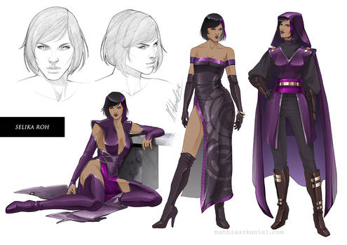commission: Selika Roh Character Sheet