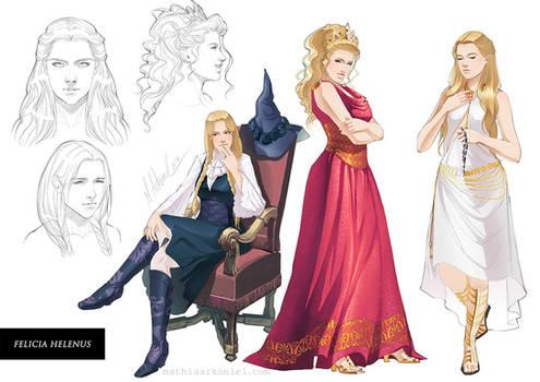 commission: Felicia Helenus Character Sheet