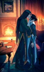 elantra: Lord Nightshade and Kaylin by MathiaArkoniel
