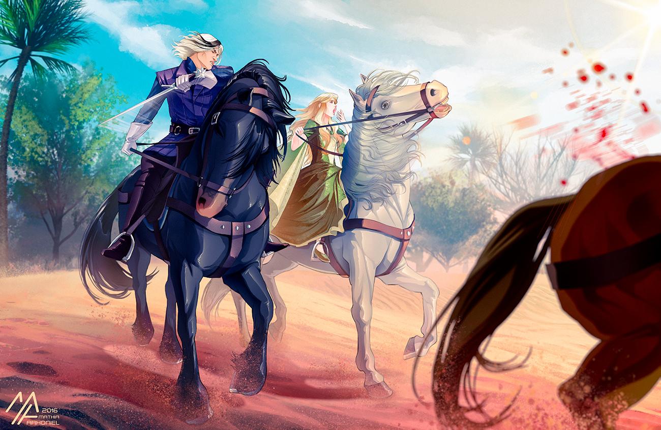 asoiaf: Darkstar and Myrcella by MathiaArkoniel