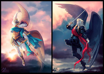 original: Michael vs Lucifer 2 by MathiaArkoniel