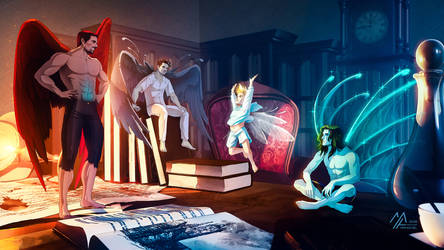 commission: Fairies by MathiaArkoniel