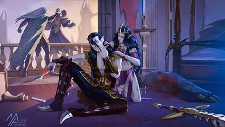 commission: Warhammer Dark Elves