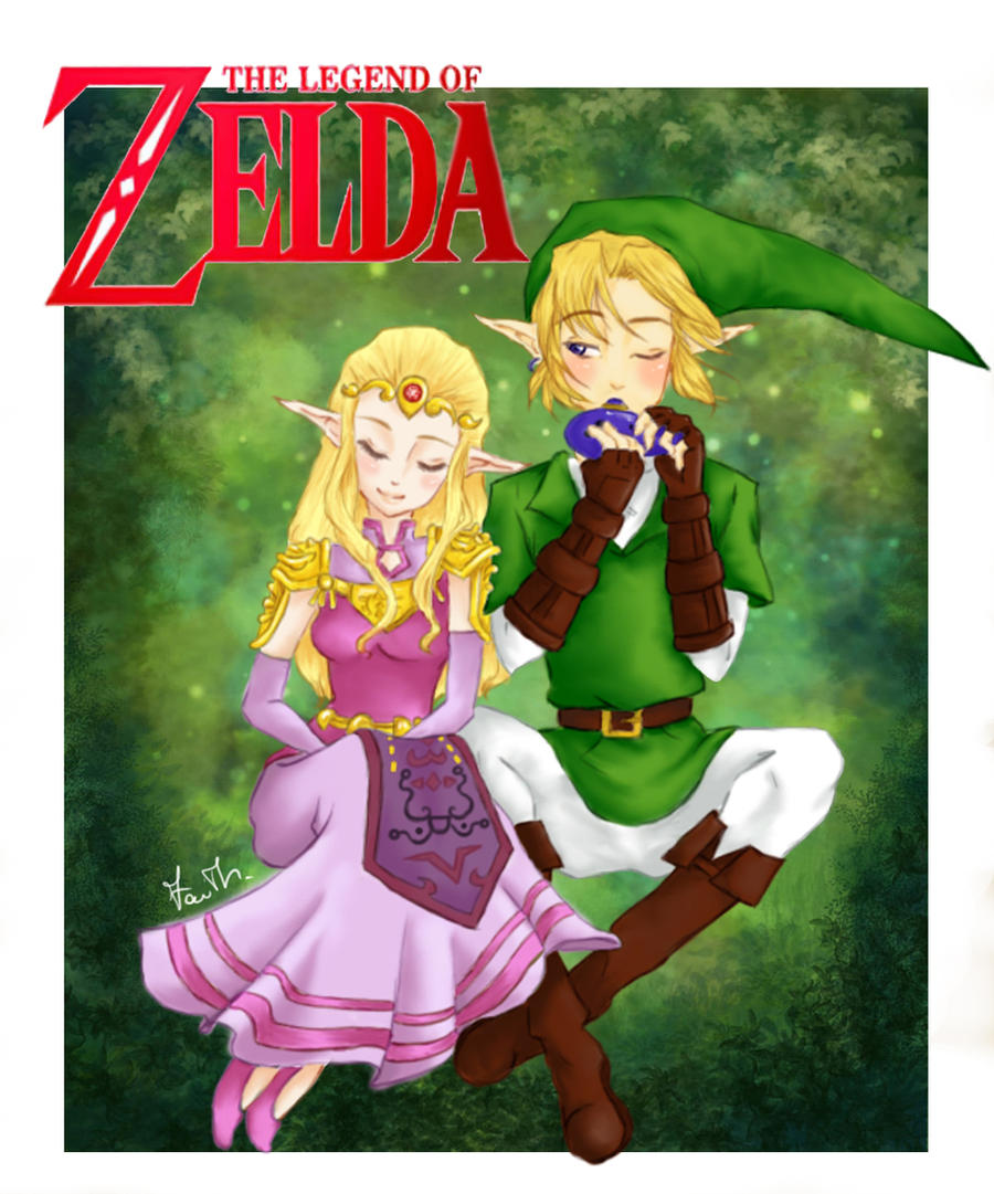 Ocarina of time- Link and Zelda    Zelda And Link Kiss Ocarina Of Time