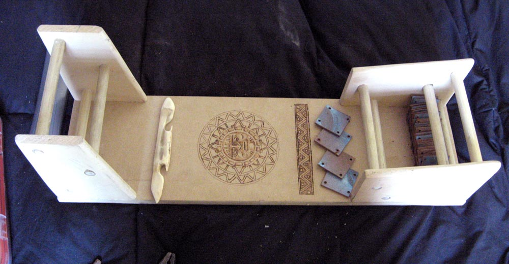 Tablet weaving board by Aranglinn