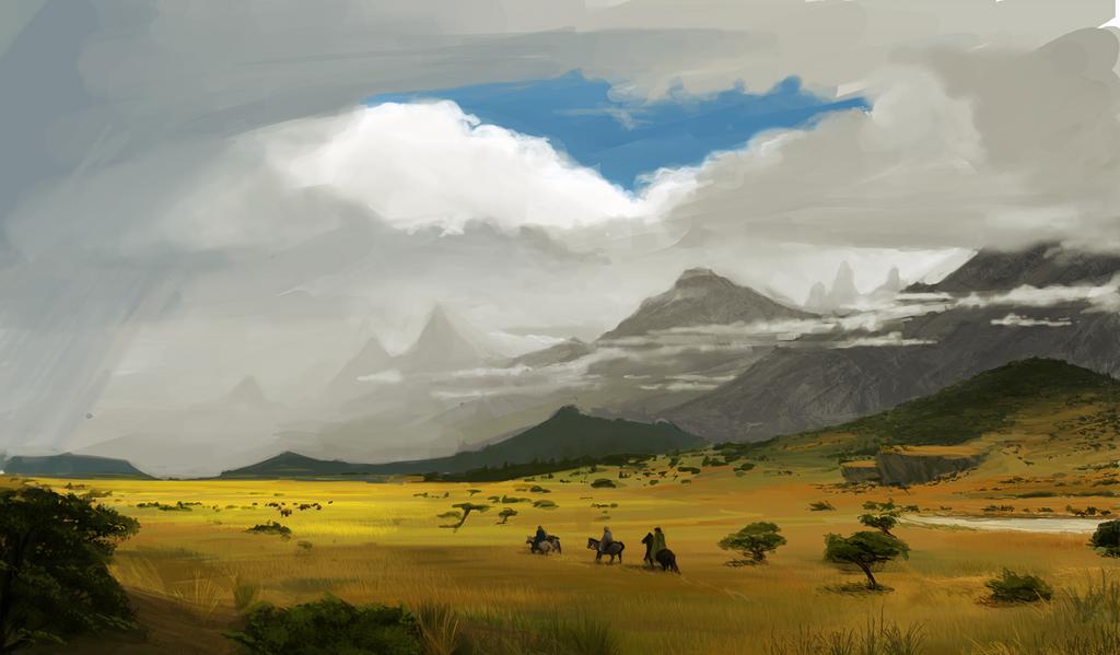 Crossing the desolate lands by Aranglinn