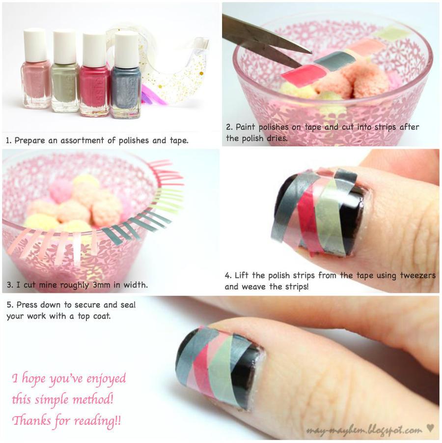 Weaved Nails Tutorial by MissMMayhem