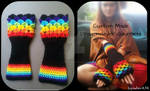 Custom Made Rainbow Dragonslayer Gauntlets
