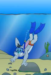 Cossie Goes Snorkeling by TheEvstar