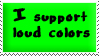 Loud Colors Stamp Green by oBsCeNe-EmO-qUeEn