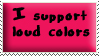 Loud Colors Stamp Pink by oBsCeNe-EmO-qUeEn