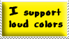 Loud Colors Stamp Yellow by oBsCeNe-EmO-qUeEn