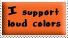 Loud Colors Stamp Orange by oBsCeNe-EmO-qUeEn