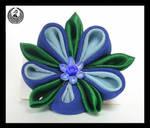 Blue Flower Brooch by Arleen
