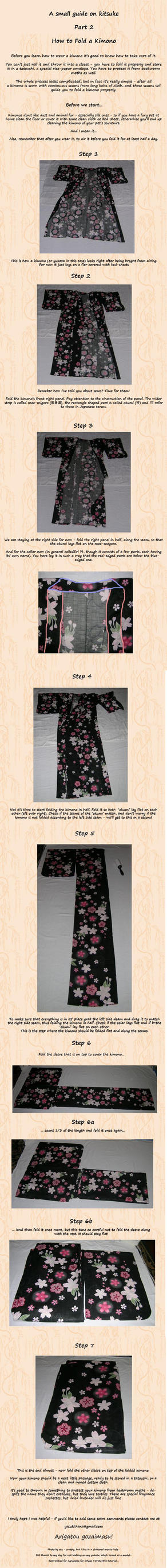 Kimono Folding Tutorial by Arleen