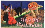 Halloween Witch and Pumpkin Man by Yesterdays-Paper