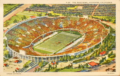 The Rose Bowl, Pasadena CA by Yesterdays-Paper