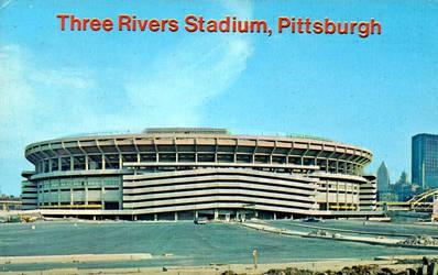 Vintage Pittsburgh - Three Rivers Stadium by Yesterdays-Paper