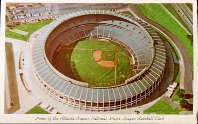 Vintage Atlanta - Atlanta Stadium by Yesterdays-Paper